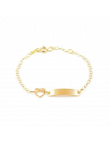 18ct Yellow Gold Baby Bangle heart Bracelet