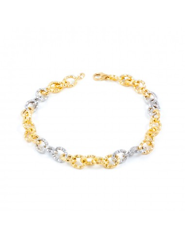 18ct two color Gold Bracelet