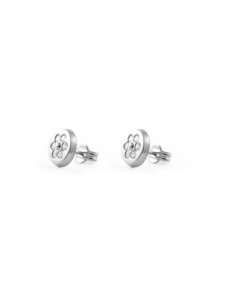 18ct White Gold round Children's Earrings