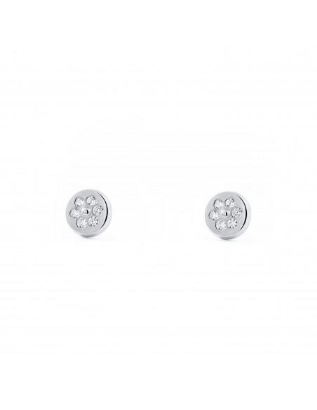 18ct White Gold round Children's Earrings