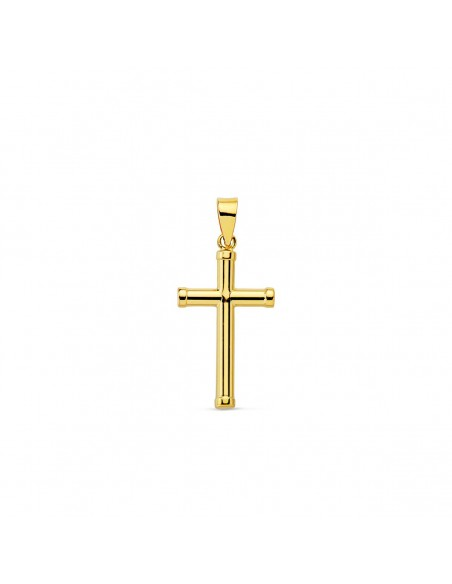 18ct Yellow Gold Cross 17x10.5 mm