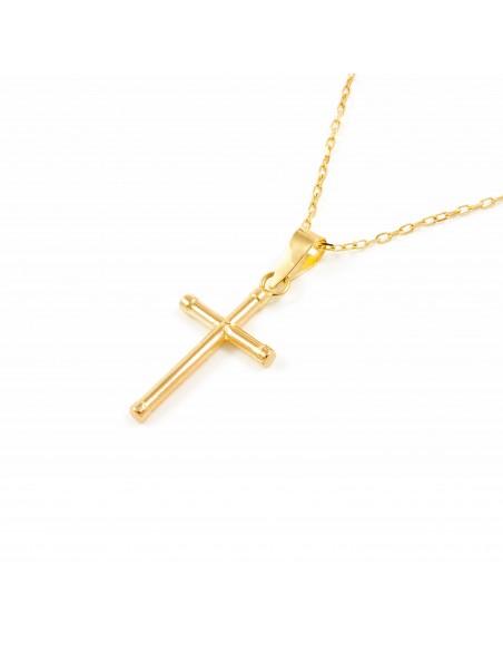 9ct Yellow Gold Cross 17x10.5 mm