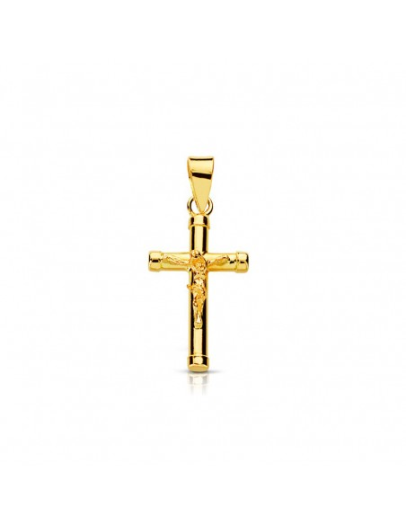 18ct Yellow Gold Cross with Christ 17x10.5 mm