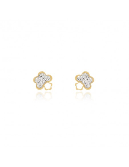 18ct flower Gold Earrings
