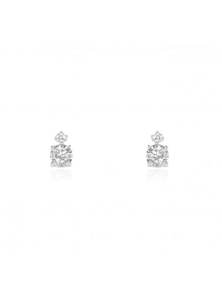 9ct White Gold girl Earrings
