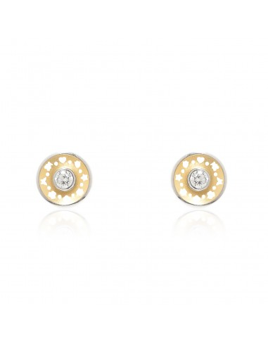 18ct 2 Colour Gold round Children's Earrings