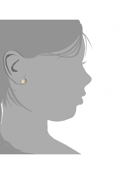 9ct Yellow Gold teddy Children's Earrings