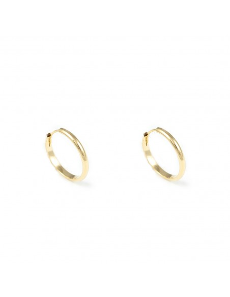 18ct Yellow Gold hoop Earrings