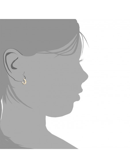 18ct Yellow Gold hoop Earrings