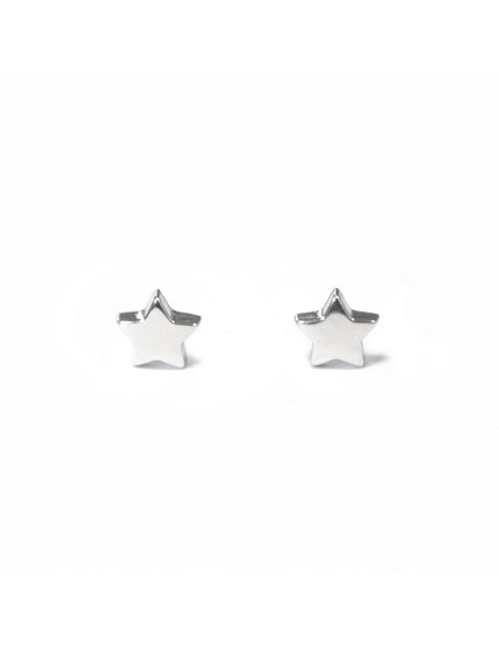 925 Sterling Silver Stars Girls Earrings