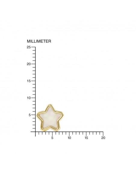9ct Yellow Gold Star nacre Children's Earrings