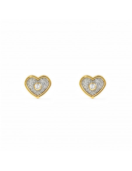 9ct Yellow Gold heart Children's Earrings