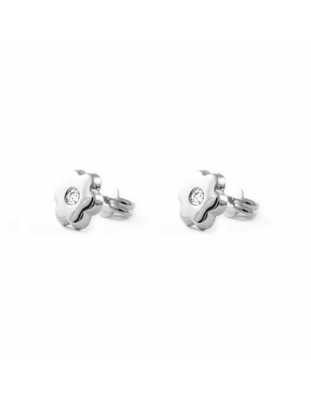 9ct White Gold flower Children's Earrings