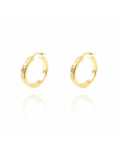 diversamente 77a71 2adfd Orecchini a cerchio da donna 24x4 mm - oro giallo 18K (750)