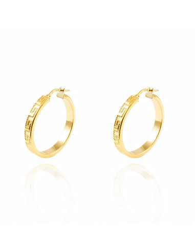 18ct Yellow Gold hoop Earrings gGNQX2