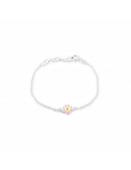 925 Sterling Silver flower bracelet