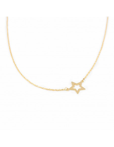18ct Yellow Gold star necklace