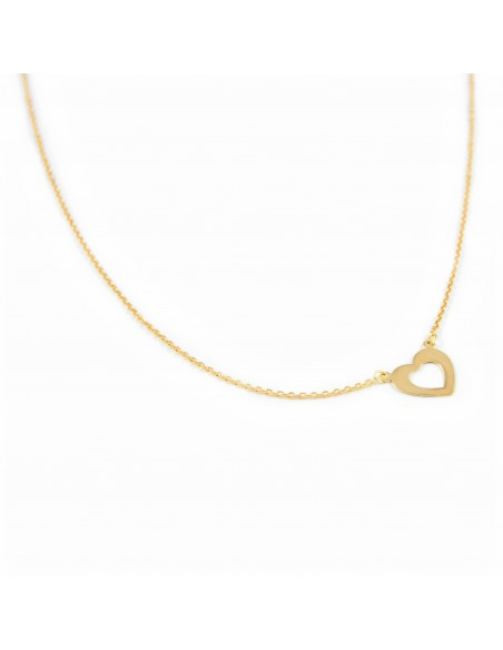 18ct Yellow Gold heart necklace