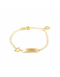 18ct Yellow Gold Baby Bangle heart Bracelet