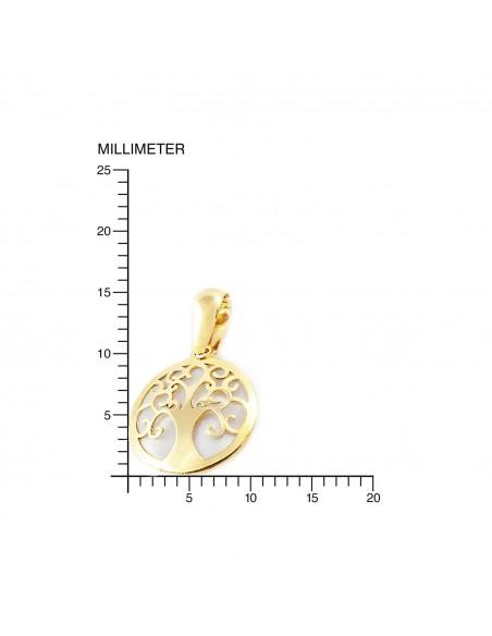 9ct Yellow Gold Life Tree nacre Children's Pendant