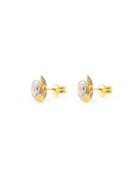 9ct Yellow Gold girl Stars Earrings