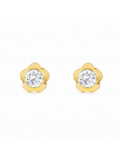 9ct Yellow Gold flower Earrings