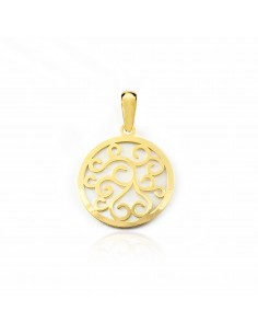 18ct Yellow Gold round Nacre Pendant