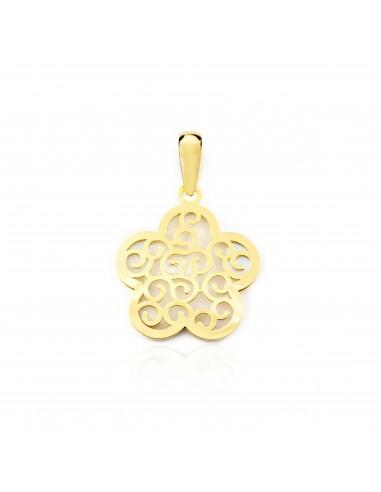 18ct Yellow Gold flower Nacre Pendant