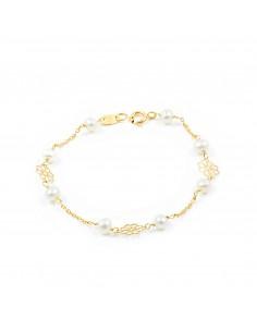 18ct Yellow Gold Baby flower Bracelet