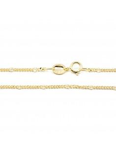 Cadena Fina Oro Amarillo entrepiezas Diamantadas