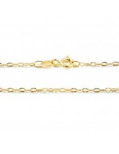 Cadena Oro Amarillo eslabon Diamantado