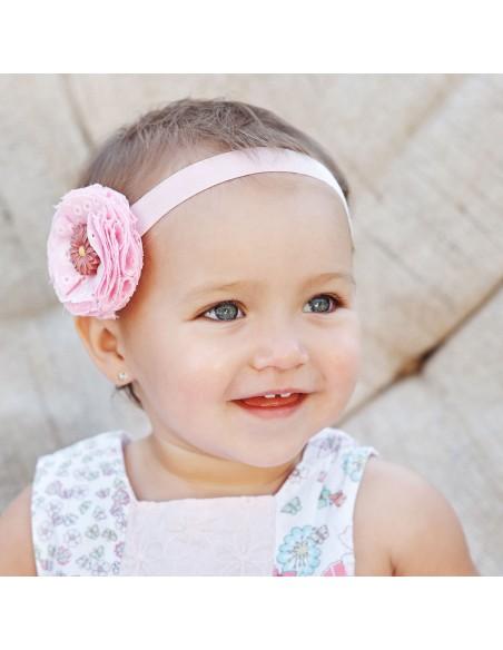 18ct White Gold round baby-newborn Earrings
