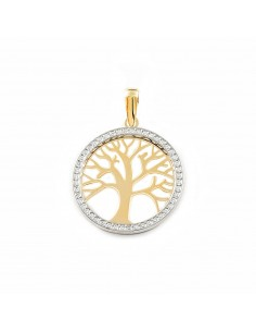 9ct 2 Colour Gold tree of Life Children's Pendant