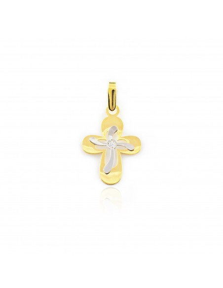 18ct gold cross with diamond