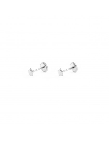 18ct White Gold star 3.5 mm baby-newborn Earrings