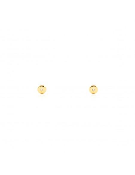 18ct Yellow Gold round baby-newborn Earrings