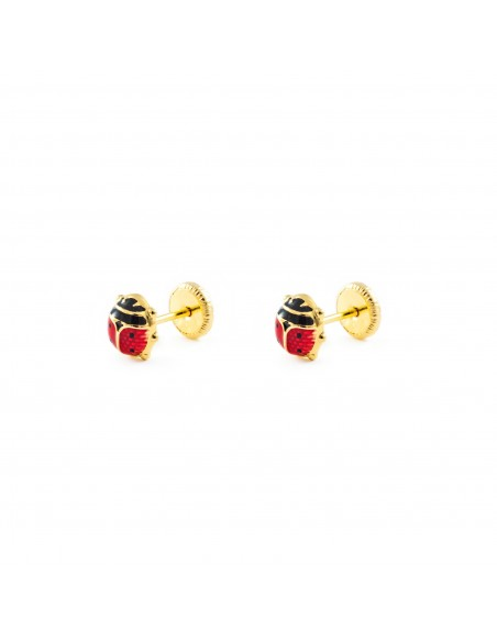9ct Yellow Gold ladybird Children's Earrings