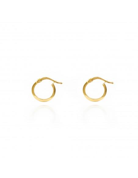 18ct Yellow Gold hoop Earrings 11x1.5 mm
