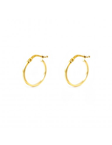18ct Yellow Gold hoop Earrings 22x1.5 mm