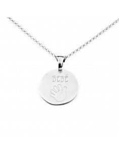925 Sterling Silver baby hand pendant