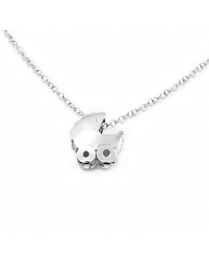 925 Sterling Silver baby carriage necklace