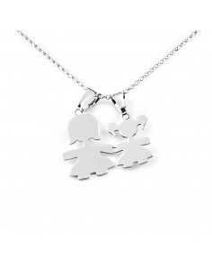 925 Sterling Silver Mother and daughter divisible pendant