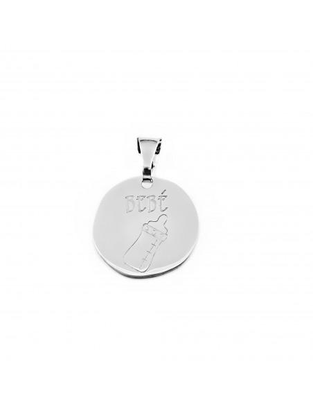 925 Sterling Silver baby's bottle pendant