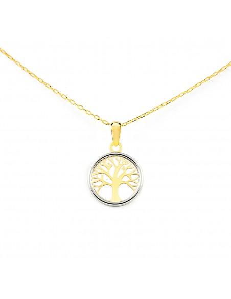 9ct 2 Colour Gold tree of Life Children's Pendant