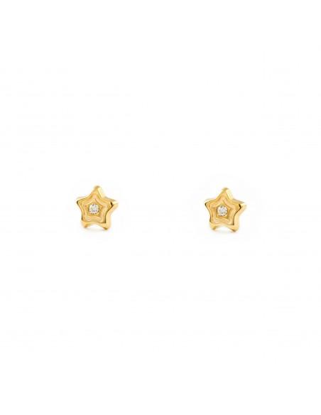 9ct Yellow Gold Children's Stars Earrings