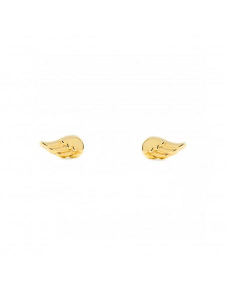 9ct Yellow Gold wings Children's Earrings