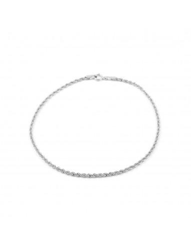 18ct White Gold Salomonic 1.65 mm Bracelet