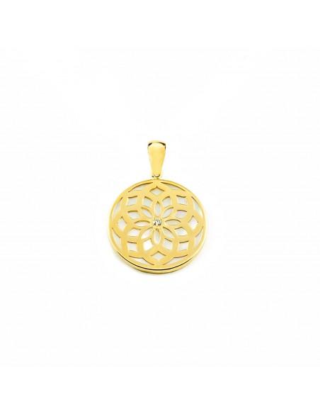 9ct Yellow Gold nacre Pendant