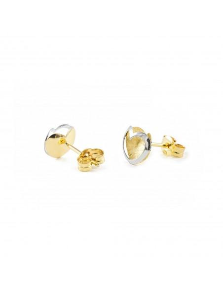 9ct 2 Colour Gold heart Children's Earrings