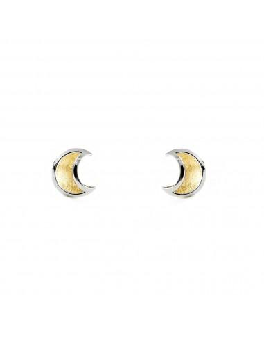 Pendentif lune Or Bicolore 9 Carats